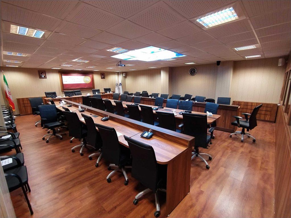 دکوراسیون داخلی اداری سالن کنفرانس